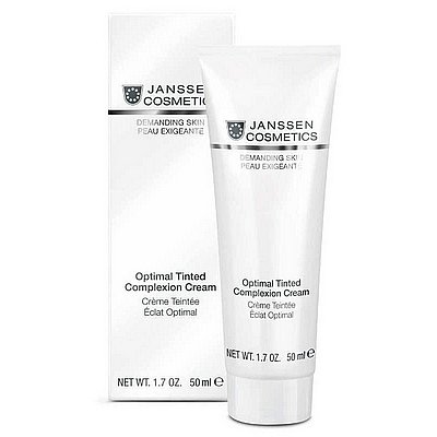 Krem Jansssen (0011) barwiony SPF 10 Optimal Tinted Complexion Cream Medium 50 ml - Prezentowane zdjęcie może się nieco różnić od aktulanego wyglądu towaru.