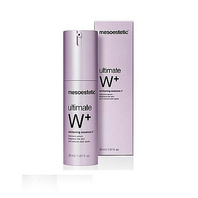 Serum do twarzy Ultimate W+ whitening depigmentujące Mesoestetic 30ml - Prezentowane zdjęcie może się nieco różnić od aktulanego wyglądu towaru.